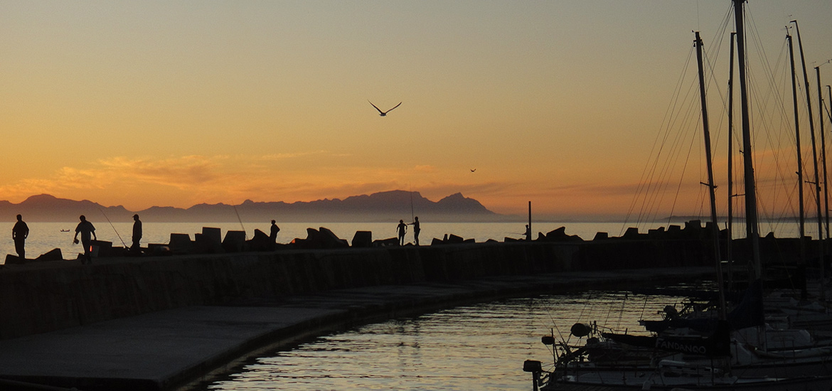 Gordons Bay Harbour Wall Sunset